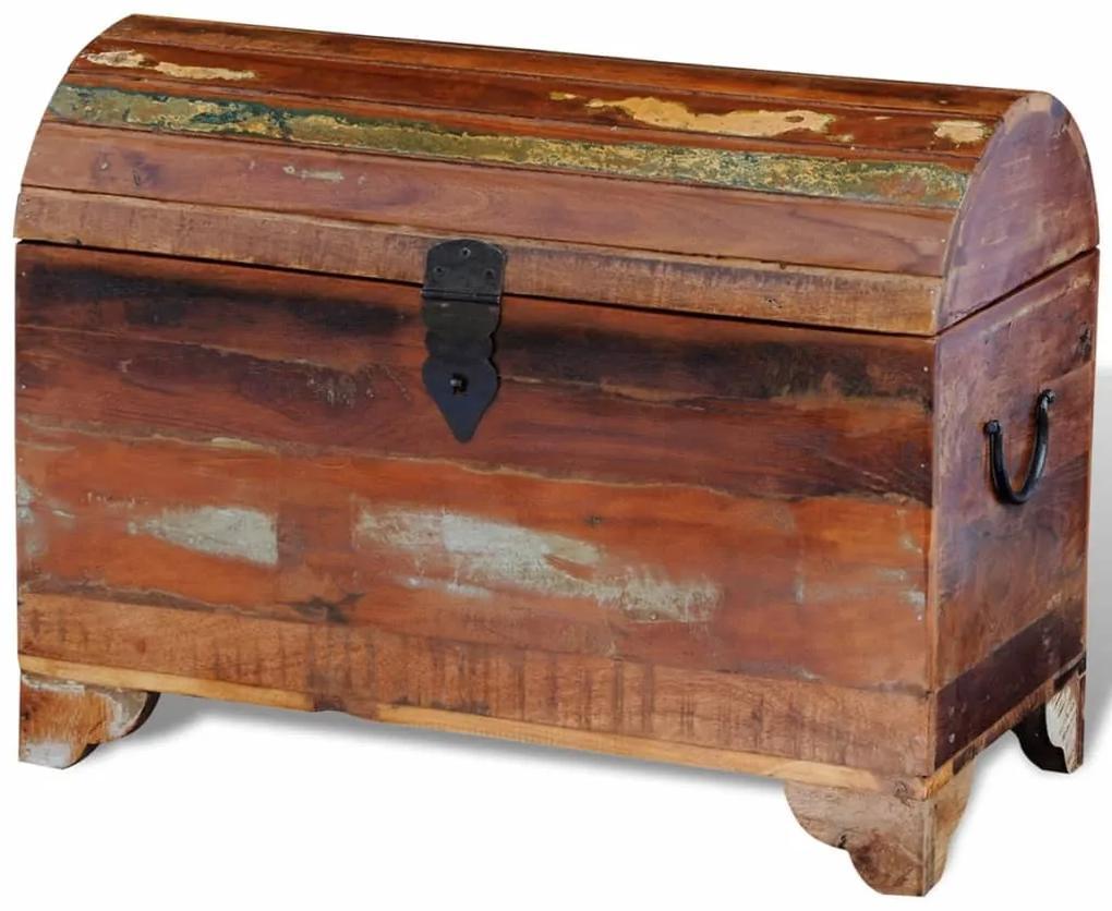241645 vidaXL Cufăr de depozitare din lemn masiv reciclat