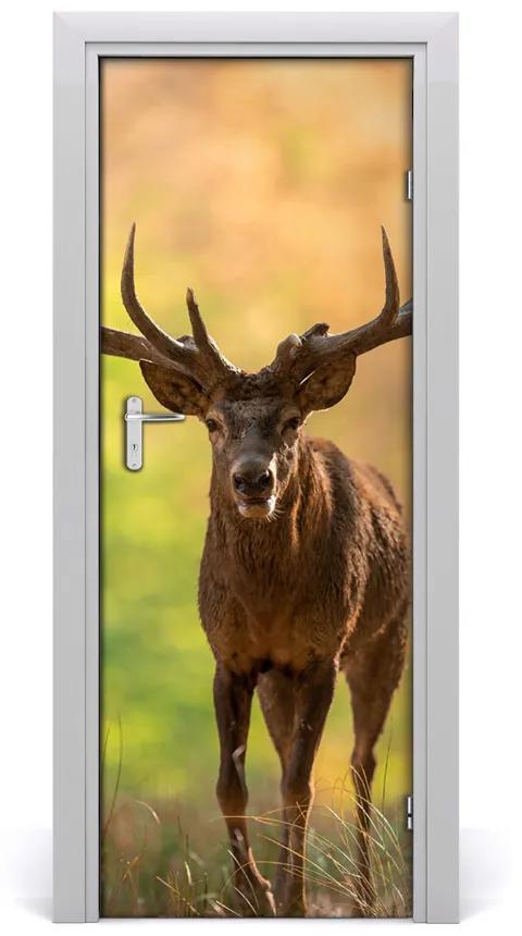 Autocolante pentru usi ușă autoadeziv Deer în pădure