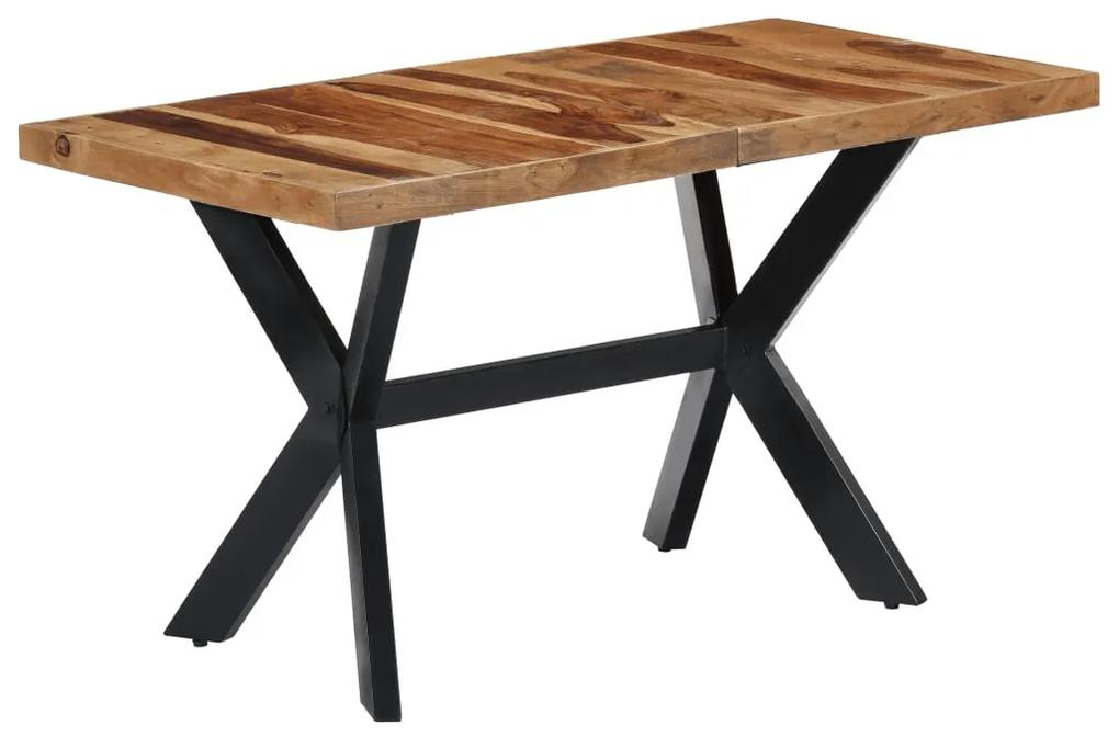 247440 vidaXL Masă de bucătărie, 140 x 70 x 75 cm, lemn masiv de sheesham