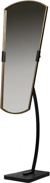 Oglinda cu picior cu rama din fier neagra Arroga, 166x48x45 cm