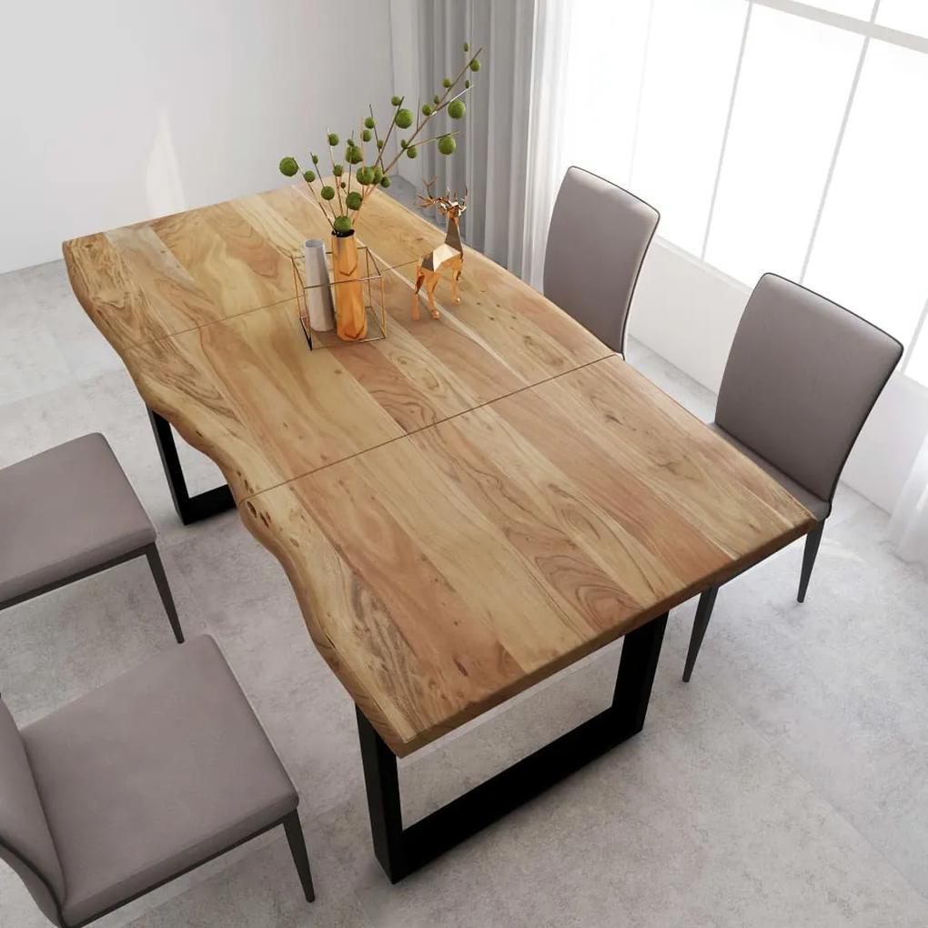 286472 vidaXL Masă de bucătărie, 180 x 90 x 76 cm, lemn masiv de acacia