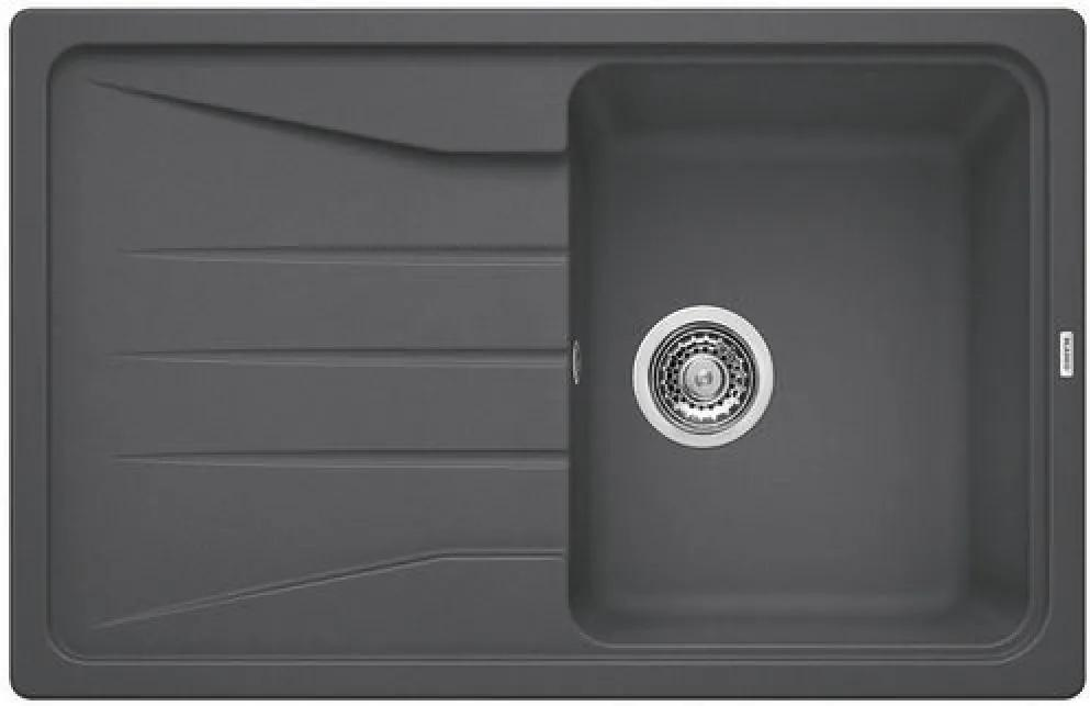 Chiuveta de bucatarie Blanco SONA 45 S silgranit, gri piatra, 519663, 78 cm