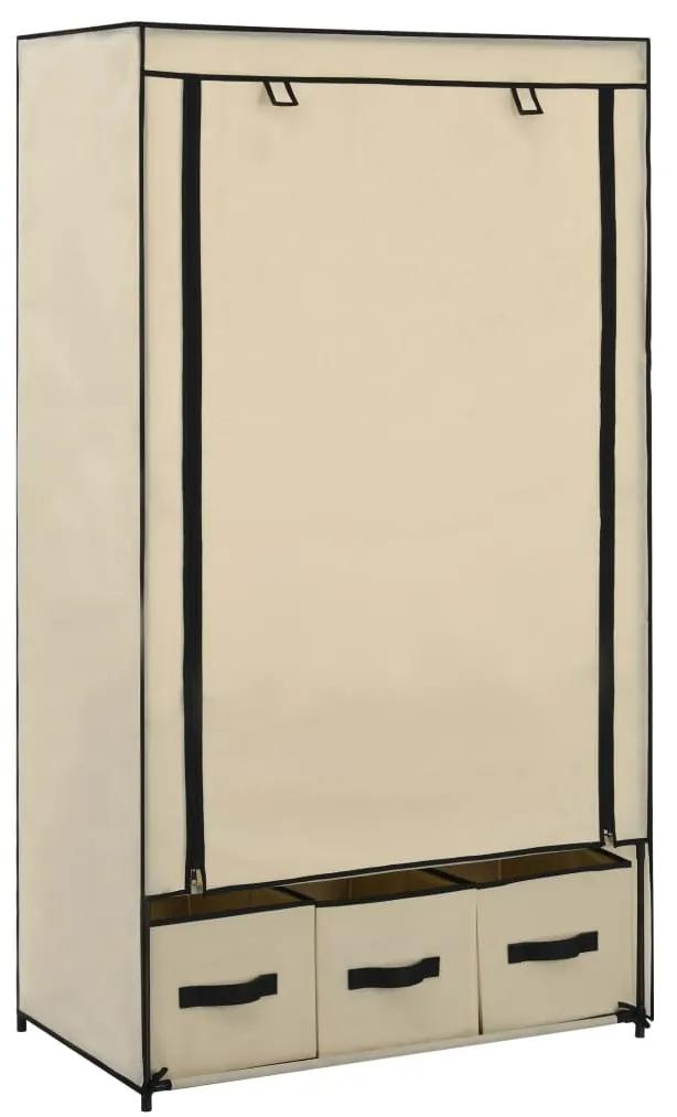 282459 vidaXL Șifonier, crem, 87 x 49 x 159 cm, material textil