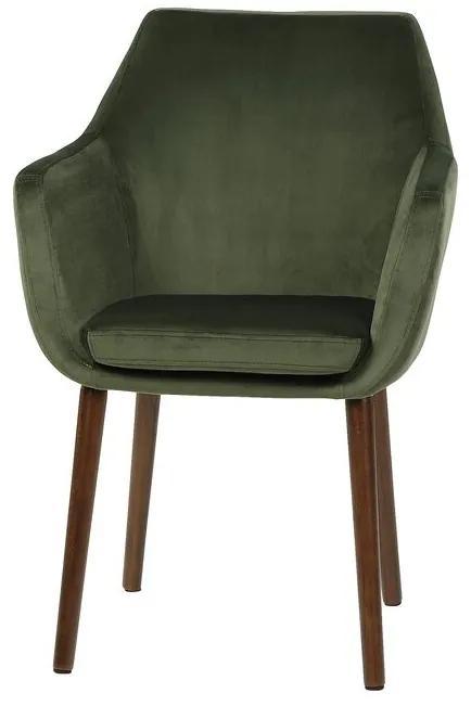 Fotoliu Aguilar, lemn, verde, 84 x 58 x 58 cm
