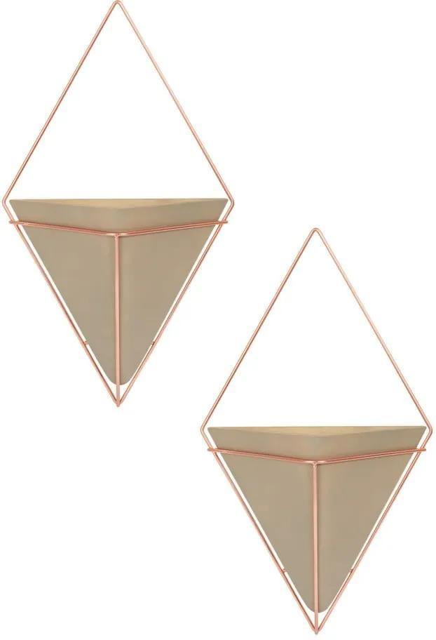 Set 2 ghivece suspendate din ceramică Umbra Trigg