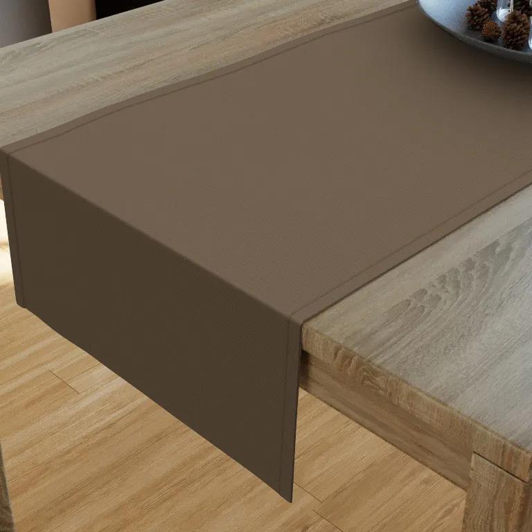 Goldea napron de masă decorative loneta - gri-maro 20x120 cm