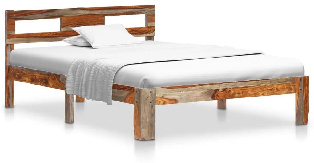 288415 vidaXL Cadru de pat, 120 x 200 cm, lemn masiv de sheesham