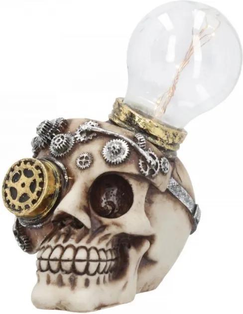 Statueta craniu steampunk cu led Minte Usoara 17 cm
