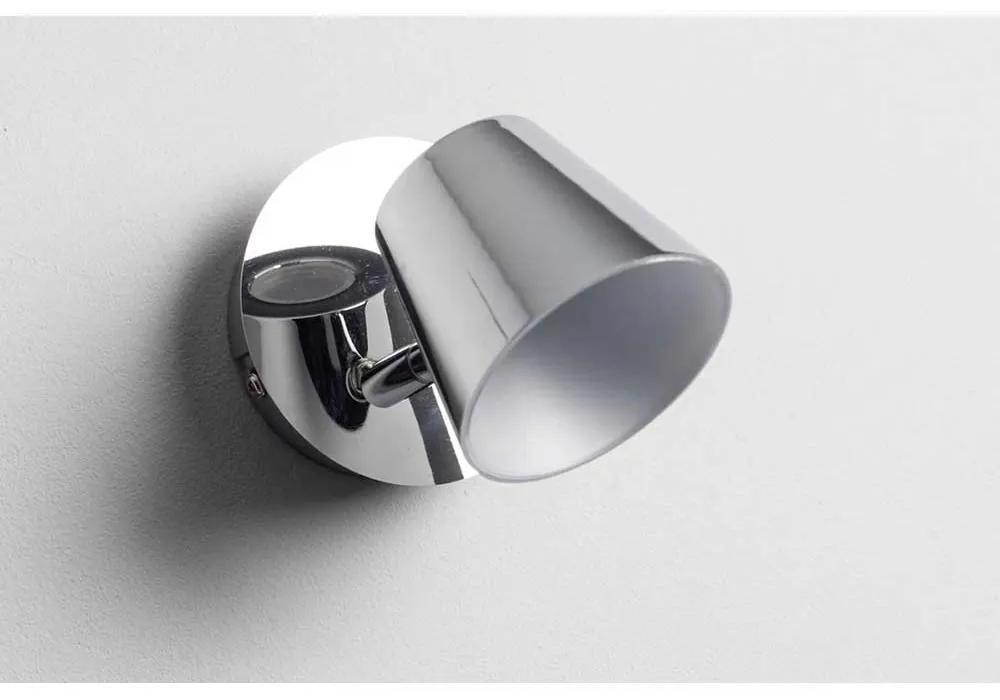 SPOT TORSION CU LED, 1X6W, 650 LUMENI, METAL, ARGINTIU