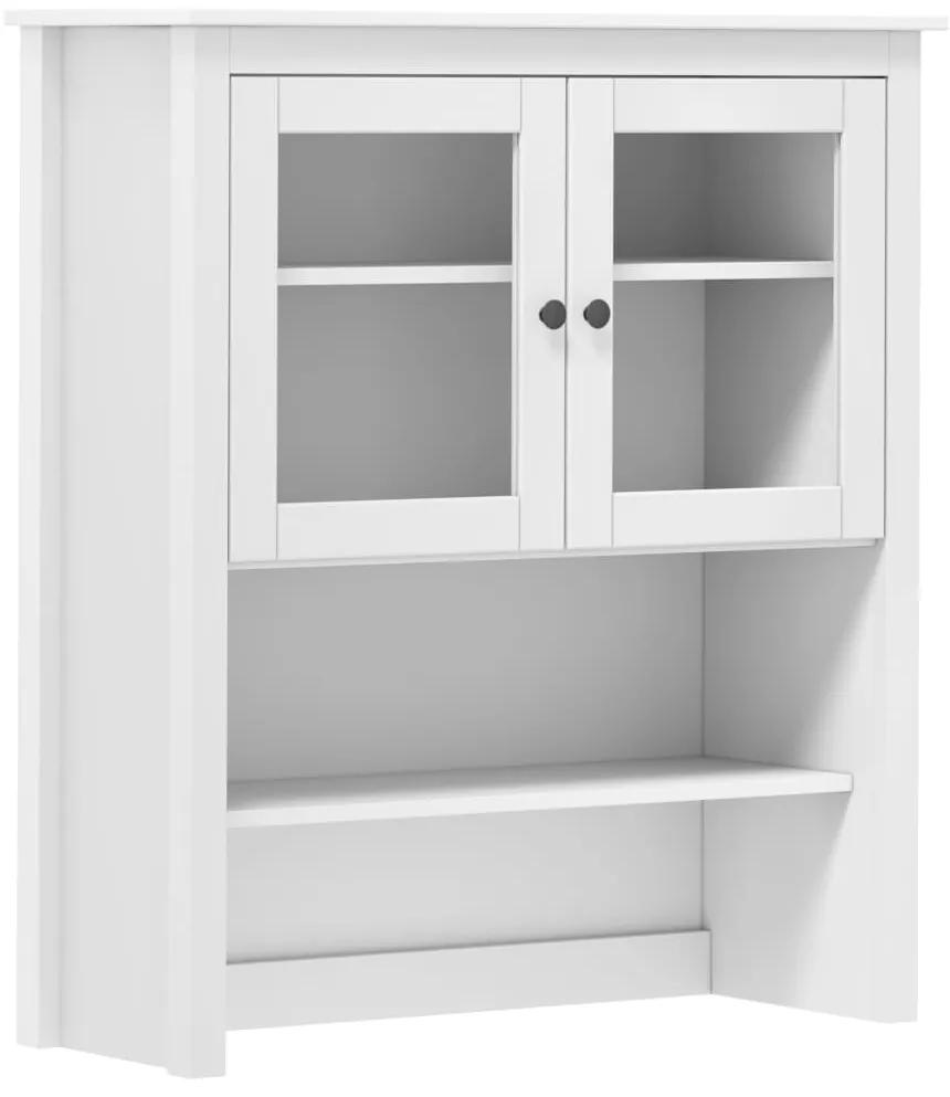 288944 vidaXL Servantă Hill Range, alb, 90 x 33 x 100 cm, lemn masiv de pin