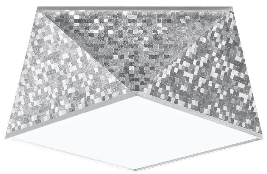 Plafonieră HEXA 1xE27/60W/230V argintie