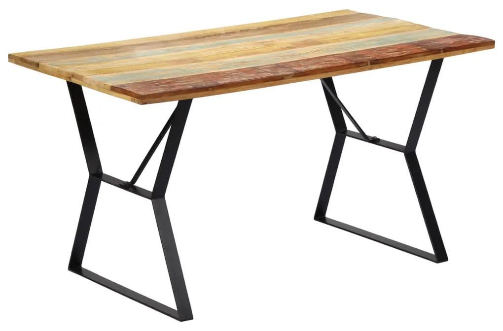 247948 vidaXL Masă de bucătărie, 140 x 80 x 76 cm, lemn masiv reciclat