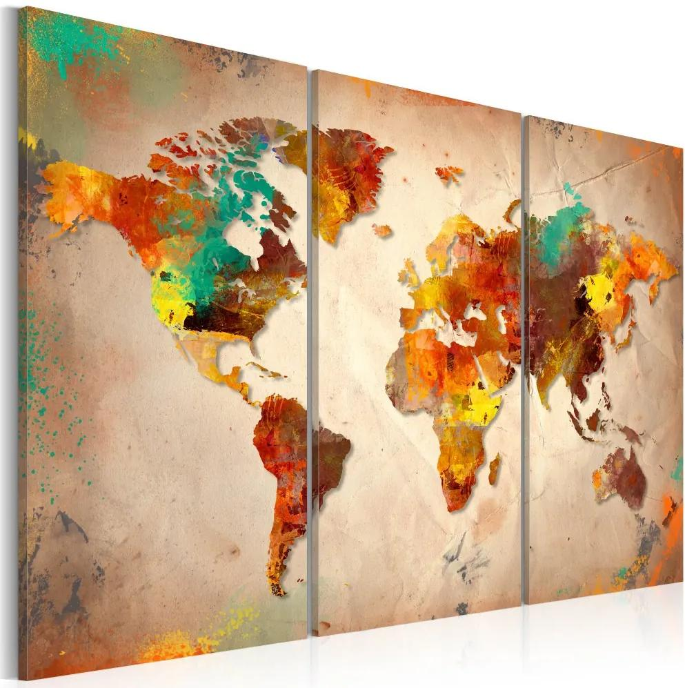 Tablou - Painted World - triptych 60x40 cm
