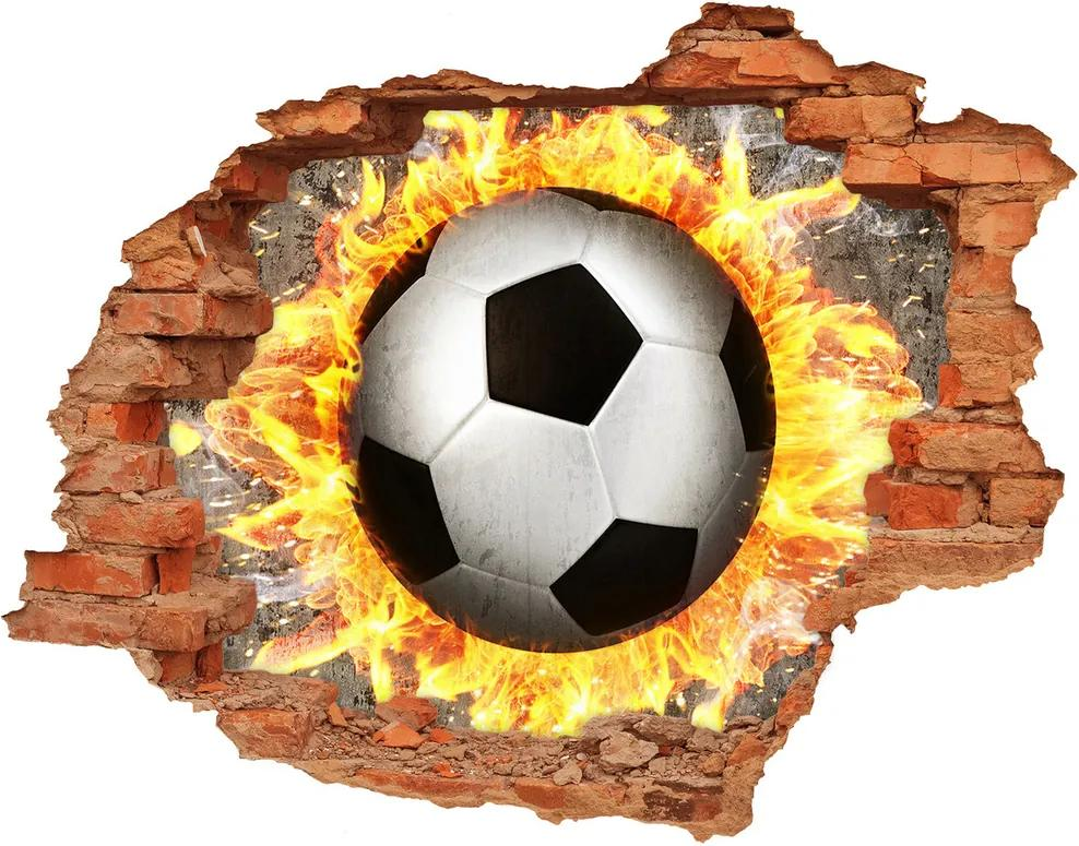 Autocolant autoadeziv gaură Arderea de fotbal a văzut
