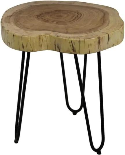 Masă auxiliară din lemn de salcâm HSM collection Live Edge, 43 x 45 cm