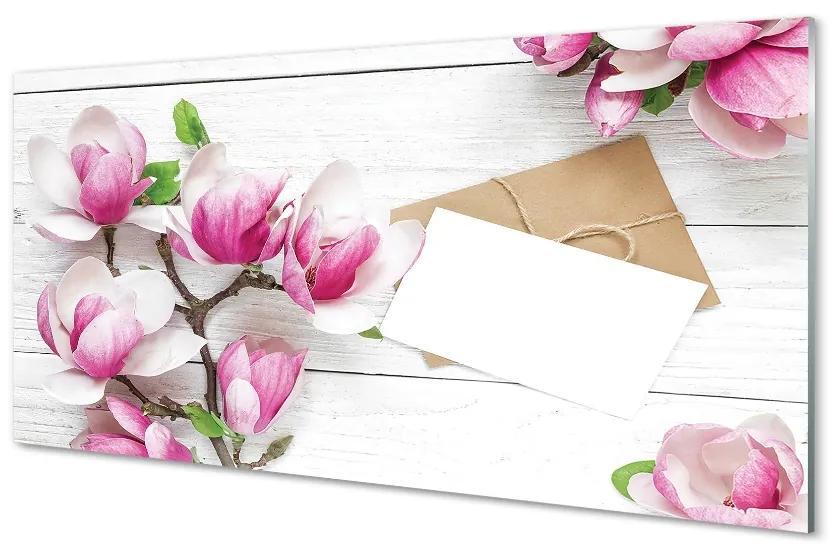 Tablouri pe sticlă placi Magnolia