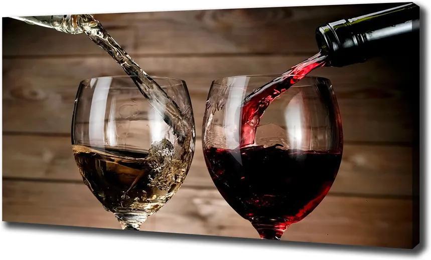 Tablou canvas Două pahare de vin