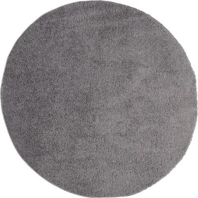 Covor Nobel rotund gri inchis Ø 67 cm