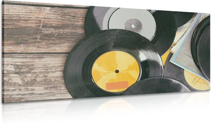 Tablou discuri vechi de gramofon