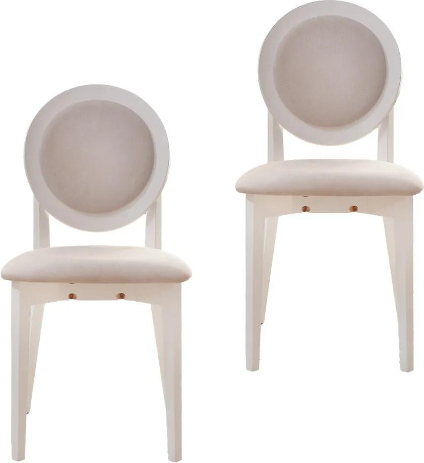 Set 2 scaune dining din lemn de fag Cosmo M, Alb/Solo 22