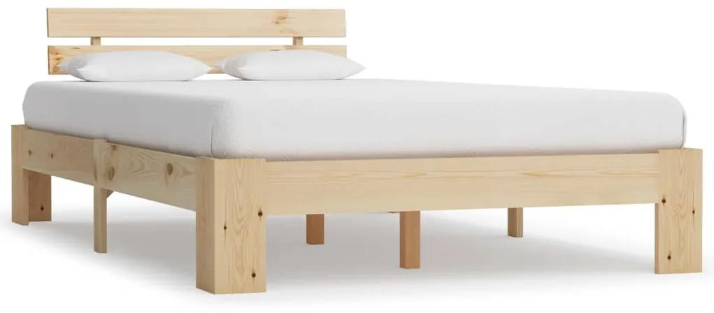 283162 vidaXL Cadru de pat, 120 x 200 cm, lemn masiv de pin