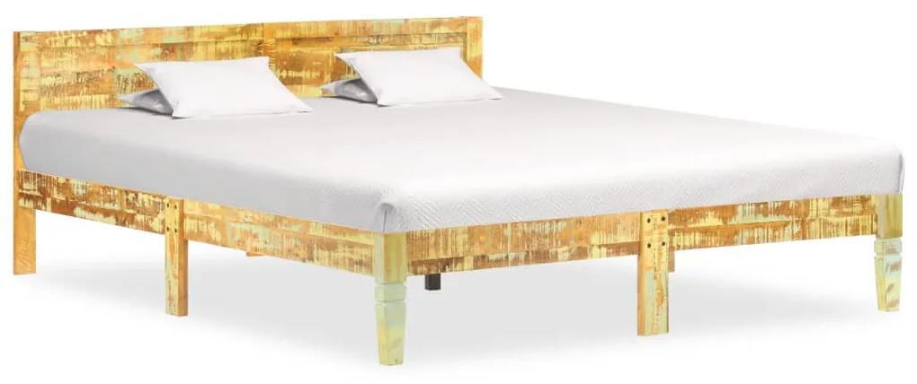 288437 vidaXL Cadru de pat, 160 x 200 cm, lemn masiv reciclat