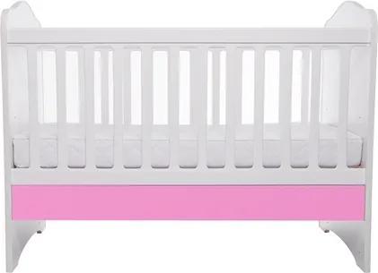 Patut Como fara sertar alb cu roz + saltea Cocos 7 cm