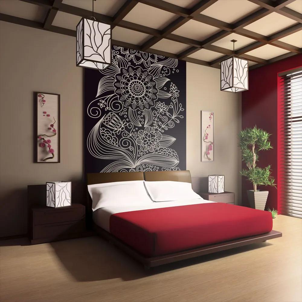 Fototapet Bimago - Floral Design - Ornament + Adeziv gratuit 200x154 cm