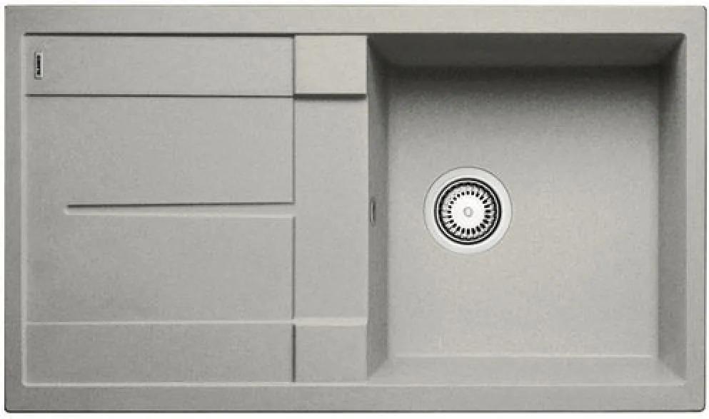 Chiuveta de bucatarie Blanco METRA 5 S silgranit, gri perlat, 520572, 86 cm
