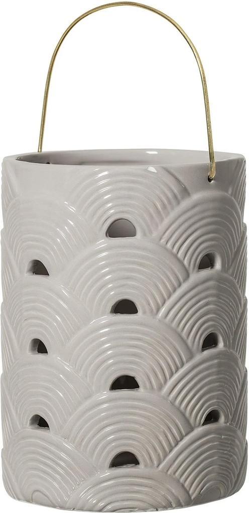 Felinar, Gri Deschis, Ceramica 15x20 cm