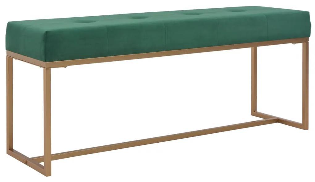 247560 vidaXL Bancă, verde, 120 cm, catifea