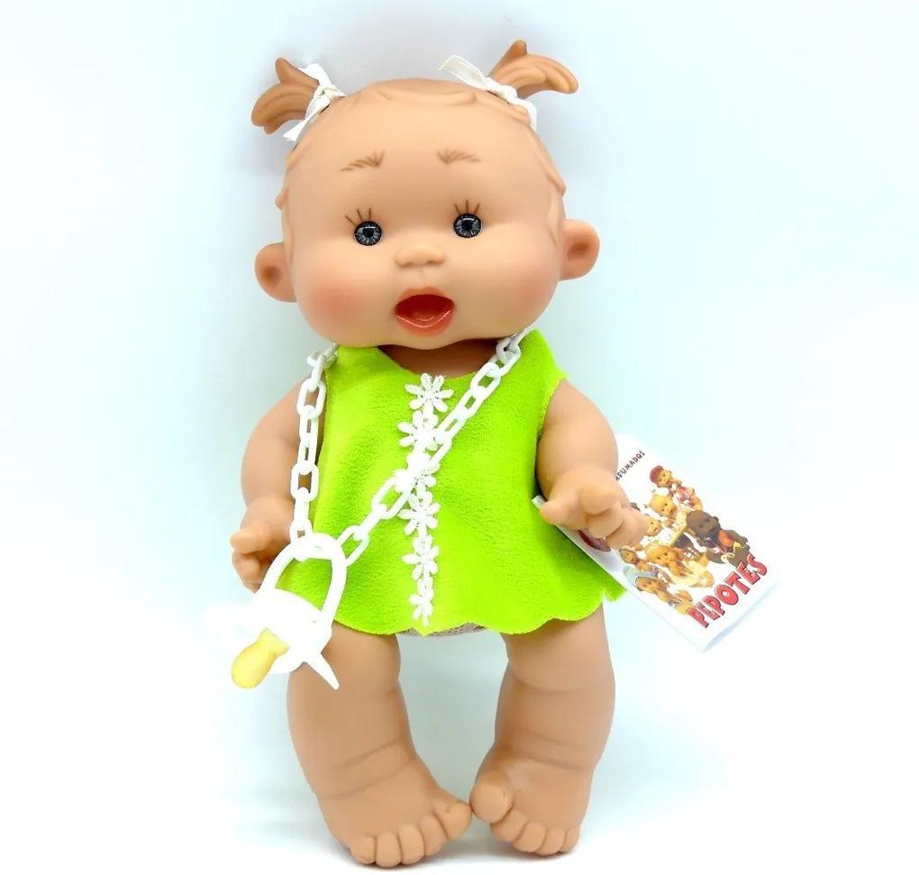 Bebelus vanilat Diana cu rochita verde Nines