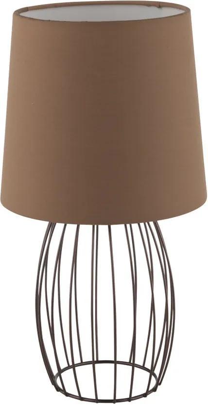 Globo Akin 54801TB Lampa de masa de noapte maro maro 1 x E14 max. 40w 33,5 x 18 x 18 cm