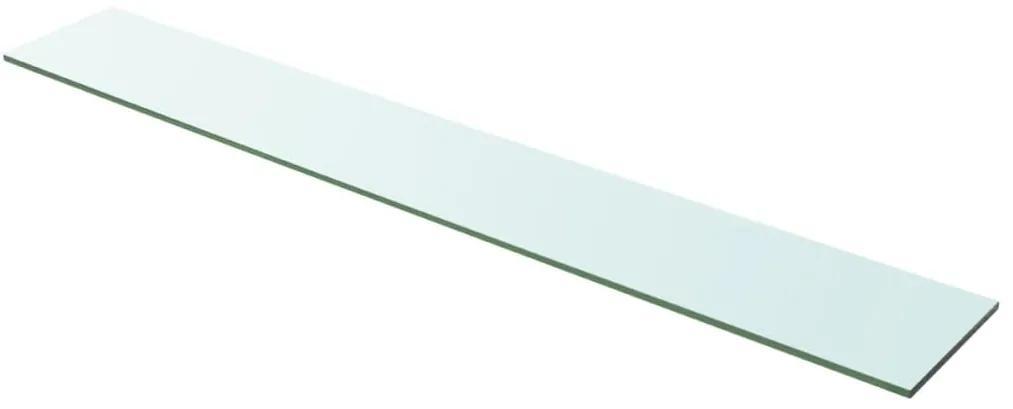 243843 vidaXL Raft din sticlă transparentă, 100 x 15 cm