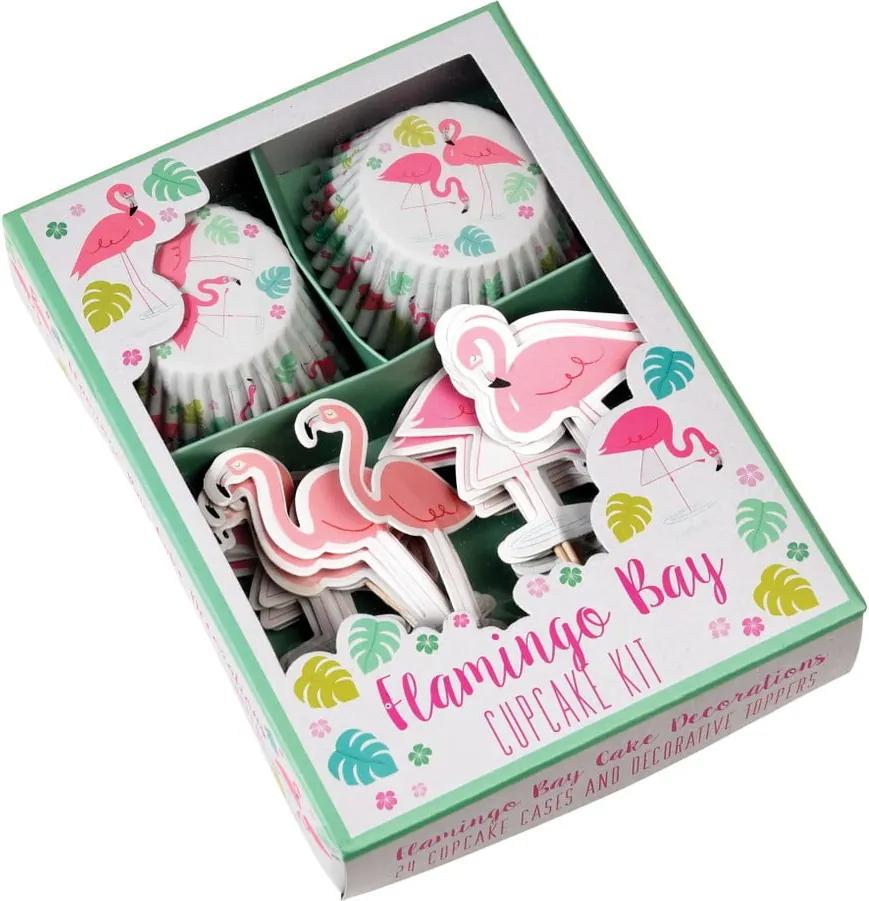 Set pentru decorat brioșe Rex London Flamingo Bay