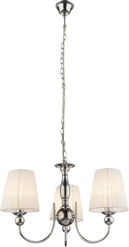 Globo 69034-3 Candelabre, Lustre COCLE crom 3 x E14 max. 40w IP20