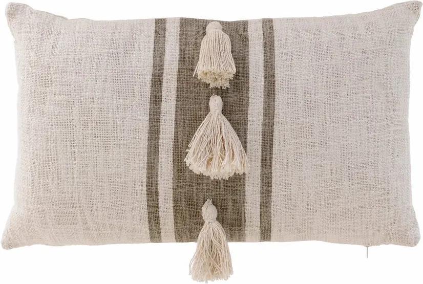 Tassel Perna decorativa mica, Textil, Bej