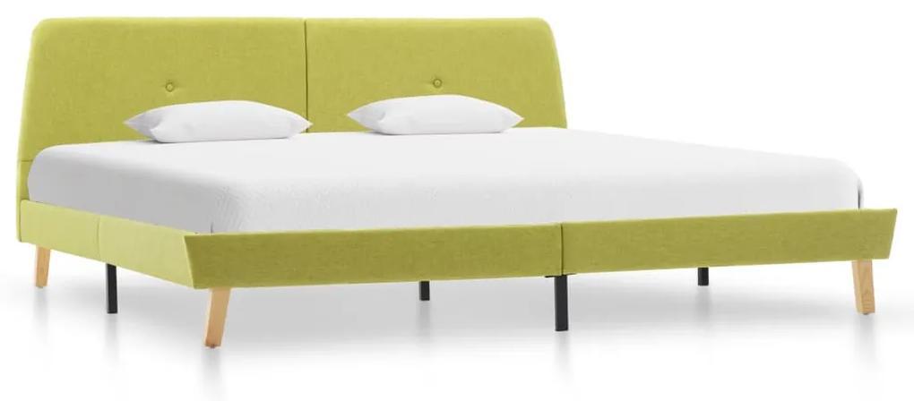 286934 vidaXL Cadru de pat, verde, 140 x 200 cm, material textil