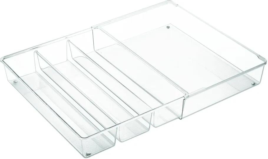 Organizator de bucătărie cu 4 compartimente iDesign Linus, 30,5 x 41 cm