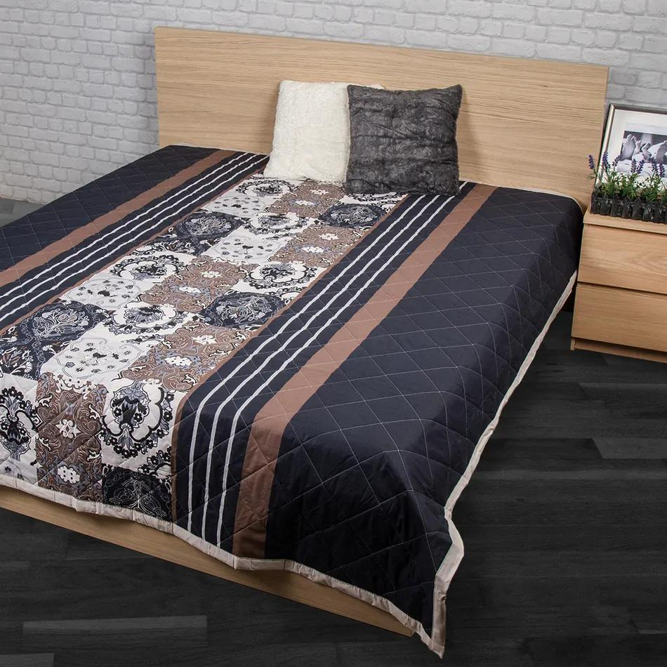 Cuvertură de pat Paolina gri, 240 x 200 cm