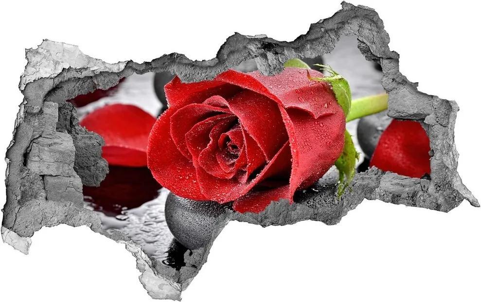 Autocolant autoadeziv gaură Trandafir roșu