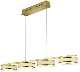 Lustră LED Trio Agento, lungime 1,15 m, auriu
