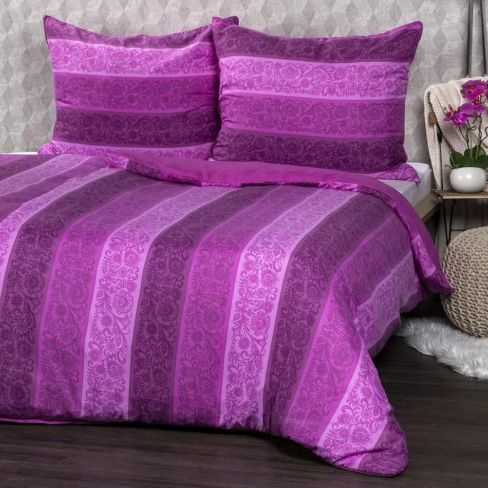 Lenjerie de pat Flowers, violet, 140 x 200 cm, 70 x 90 cm