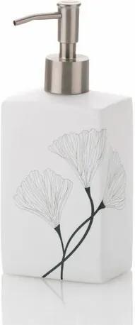 Kela Dozator de săpun Kalla alb, 420 ml