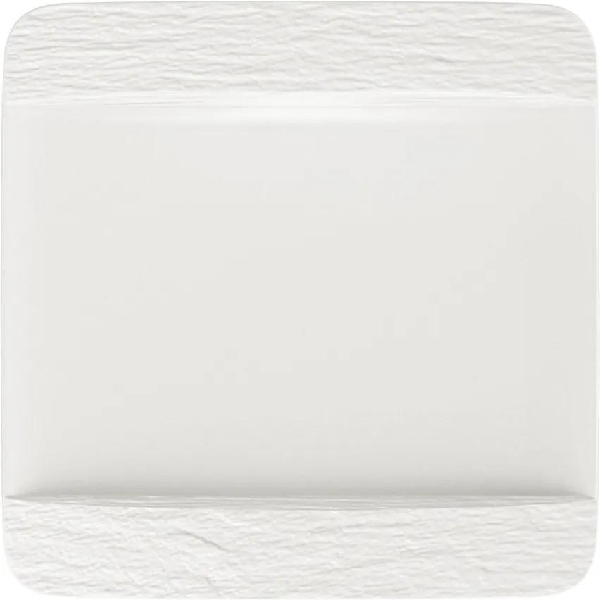 Farfurie pătrată întinsă, colecția Manufacture Rock blanc - Villeroy & Boch