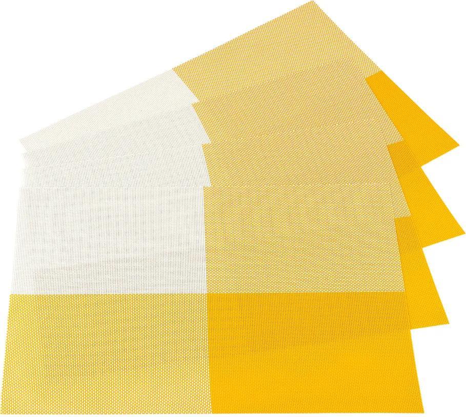 Suport farfurie DeLuxe, galben, 30 x 45 cm,  set 4 buc.