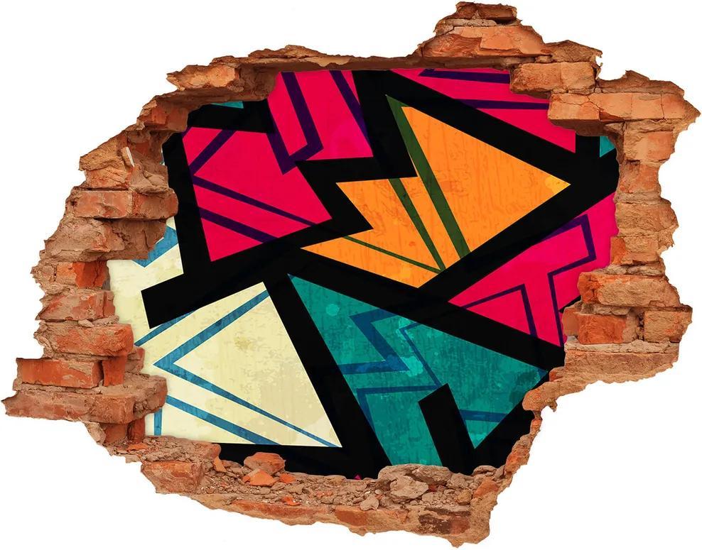 Autocolant gaură 3D Fundal geometrică