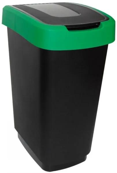 Cos gunoi 50L negru-verde Domino