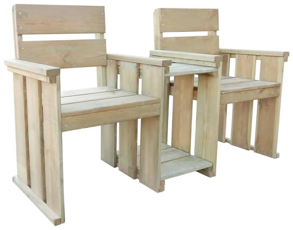 43260 vidaXL Bancă de grădină cu 2 locuri, 150 cm, lemn de pin tratat