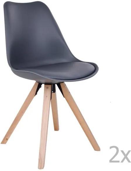 Set 2 scaune House Nordic Bergen, gri